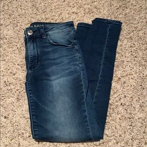Dark Blue Jeggings From American Eagle